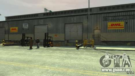 DHL-Port pour GTA 4 cinquième écran