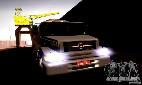 Mercedes-Benz L1620 Tanque pour GTA San Andreas sur la vue arrière gauche