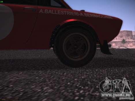 Lancia Fulvia Rally Marlboro pour GTA San Andreas vue intérieure