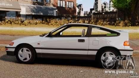 Honda CRX 1991 für GTA 4 linke Ansicht