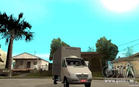 Mercedes-Benz Sprinter Truck für GTA San Andreas Rückansicht