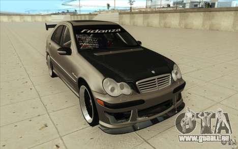 Mercedes-Benz C32 AMG Tuning pour GTA San Andreas vue arrière