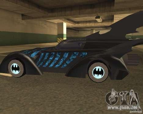 Batmobile 1995 pour GTA San Andreas sur la vue arrière gauche