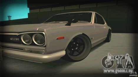 Nissan Skyline 2000GT-R JDM Style pour GTA San Andreas laissé vue