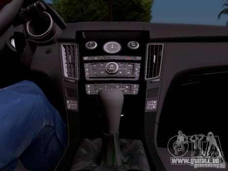 Cadillac CTS-V 2009 für GTA San Andreas Unteransicht