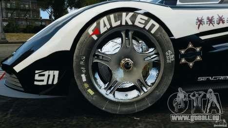 McLaren F1 ELITE Police [ELS] pour GTA 4 Vue arrière