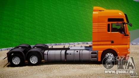 MAN TGX V8 6X4 pour GTA 4 est une vue de l'intérieur