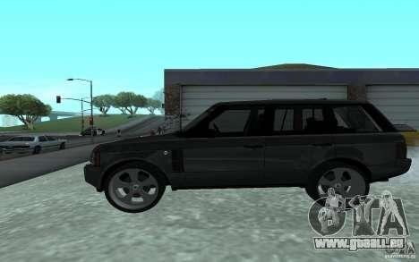 Land Rover Supercharged für GTA San Andreas linke Ansicht
