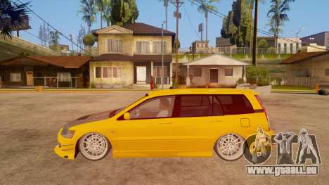 Mitsubishi Lancer Evolution IX Wagon MR Drift für GTA San Andreas linke Ansicht