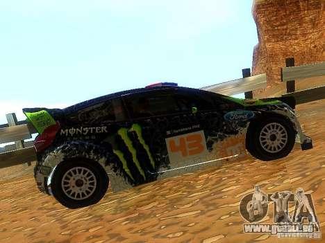 Ford Fiesta RS WRC 2012 pour GTA San Andreas laissé vue
