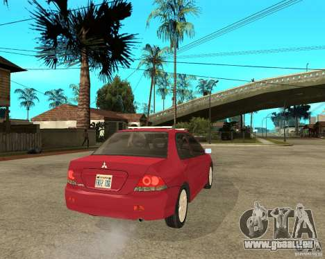 Mitsubishi Lancer 2005 pour GTA San Andreas sur la vue arrière gauche