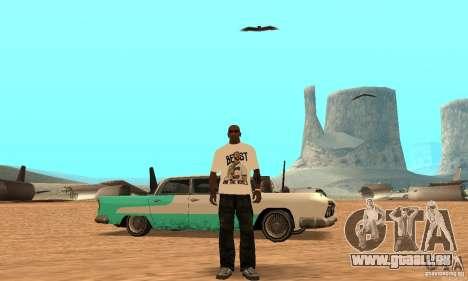 WWE CM Punk T-shirt für GTA San Andreas dritten Screenshot