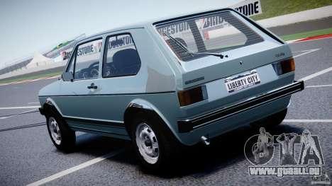 Volkswagen Golf Mk1 pour GTA 4 Vue arrière de la gauche