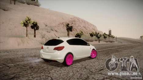 Opel Astra 2010 für GTA San Andreas zurück linke Ansicht