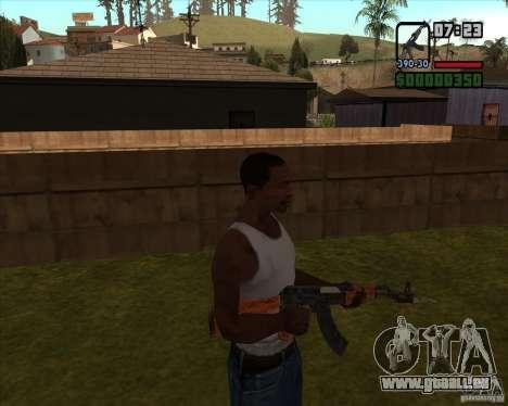 AK-47 mit Bajonett für GTA San Andreas dritten Screenshot