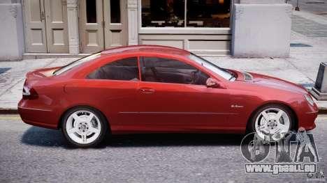 Mercedes-Benz CLK 63 AMG 2005 pour GTA 4 vue de dessus