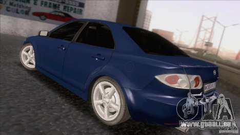 Mazda 6 2006 pour GTA San Andreas sur la vue arrière gauche