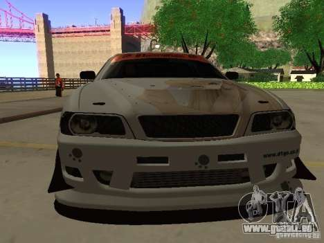 Toyota Chaser JZX100 Tuning by TCW pour GTA San Andreas vue arrière