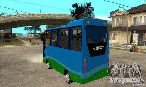 Iveco Eurocity für GTA San Andreas zurück linke Ansicht