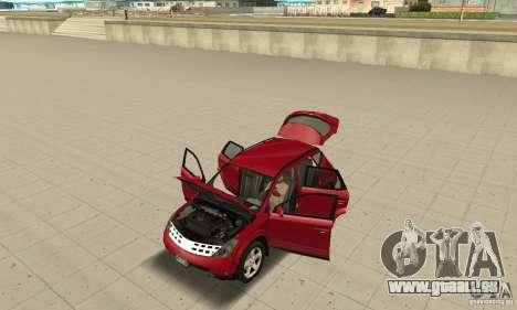 Nissan Murano 2004 pour GTA San Andreas vue arrière