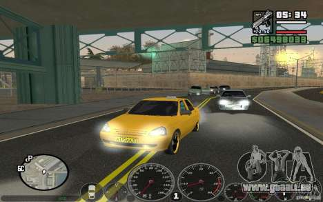 VAZ Lada Priora Taxi für GTA San Andreas linke Ansicht