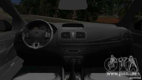 Renault Megane 3 Sport pour GTA Vice City vue arrière