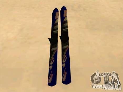 Ski-Skifahren für GTA San Andreas zurück linke Ansicht