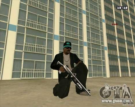 Chrome Weapon Pack pour GTA San Andreas troisième écran