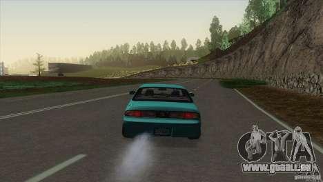 Nissan Silvia S14 pour GTA San Andreas sur la vue arrière gauche