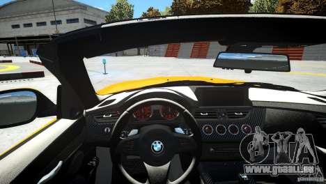BMW Z4 sDrive 28is pour GTA 4 est une vue de l'intérieur