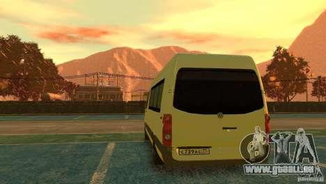 Volkswagen Crafter für GTA 4 hinten links Ansicht