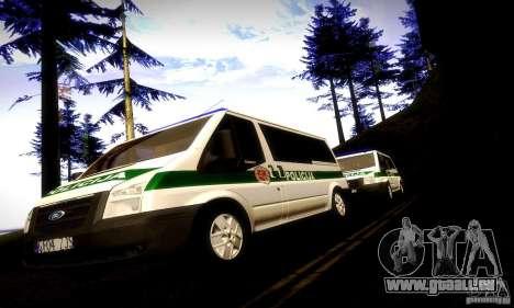 Ford Transit Policija pour GTA San Andreas vue arrière