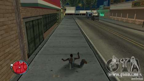 GTA IV HUD für ein Breitbild (16:9) für GTA San Andreas zweiten Screenshot