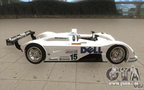 BMW V12 LeMans - Stock pour GTA San Andreas vue intérieure