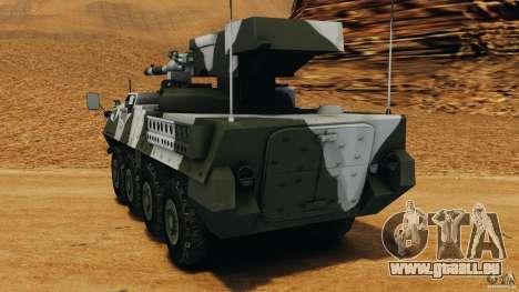 Stryker M1128 Mobile Gun System v1.0 für GTA 4 hinten links Ansicht