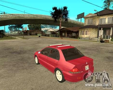 Mitsubishi Lancer 2005 pour GTA San Andreas laissé vue