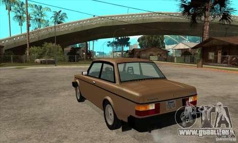 Volvo 240 Turbo pour GTA San Andreas sur la vue arrière gauche