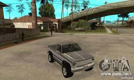Ford Ranger pour GTA San Andreas vue intérieure