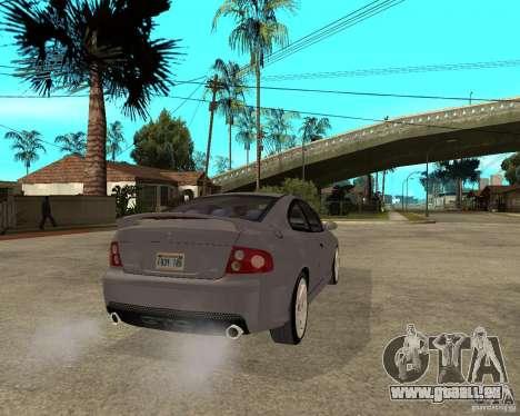 2005 Pontiac GTO pour GTA San Andreas sur la vue arrière gauche