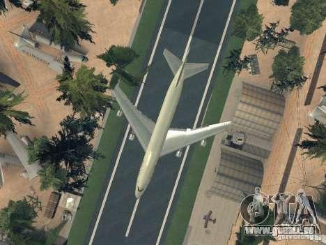 Boeing 747-100 Pan American Airways pour GTA San Andreas vue de côté