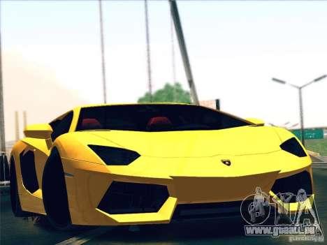 Lamborghini Aventador LP700-4 2011 V1.0 pour GTA San Andreas vue intérieure