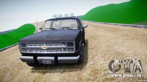 Chevrolet Blazer K5 Stock pour GTA 4 est un côté