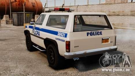 Police Rancher ELS pour GTA 4 Vue arrière de la gauche