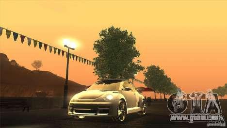 Volkswagen Beetle Tuning für GTA San Andreas Rückansicht
