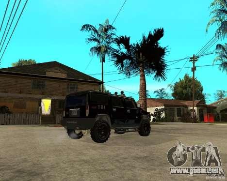 FBI Hummer H2 für GTA San Andreas Rückansicht