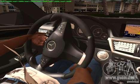Mercedes-Benz E63 AMG 2010 für GTA San Andreas Innenansicht