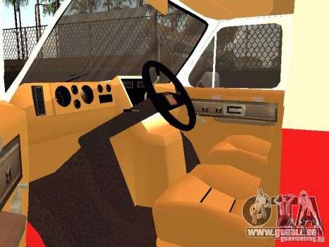 Chevrolet Van G20 LAFD pour GTA San Andreas vue arrière