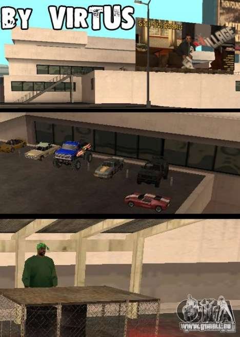 Cars shop in San-Fierro beta pour GTA San Andreas