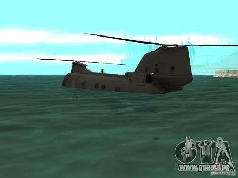 Hélicoptère Leviathan pour GTA San Andreas vue arrière