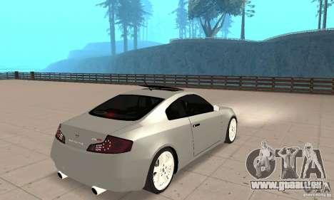 Nissan Skyline 350GT 2003 pour GTA San Andreas laissé vue